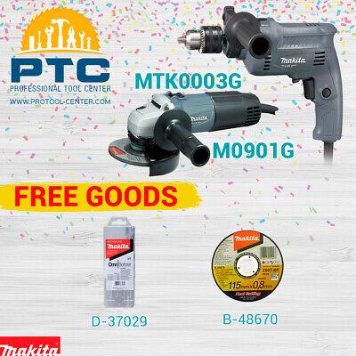 Makita Mtk0003g M0801 Rotary Hammer Combo - Mini Grinder M0901 Free Goods