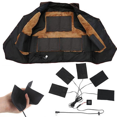 5 Pad Electric Heating Thermal Clothes Heated Jacket Outdoor Mobile Warming Gear