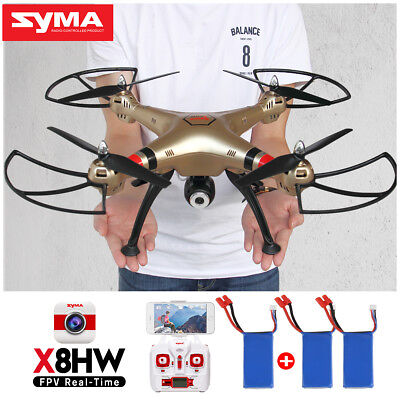 Syma X8HW Wifi HD Camera RC Drone X8HG 8MP Cam Altitude Hold Quadcopter EU Plug