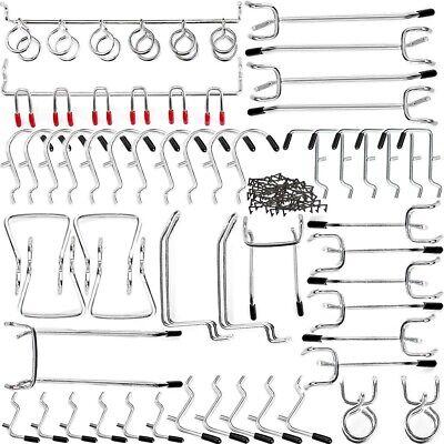 Pegboard Accessories Hook Set Assortment Organizer 51 Piece Kits Parts Storage