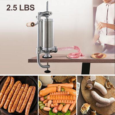 2.5l Vertical Sausage Stuffer Maker Meat Filler Stainless Steel Commercial New