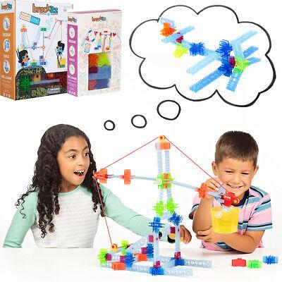 105pc Brackitz STEM Pulley Inventor Set: Kids Educational Learning Sets