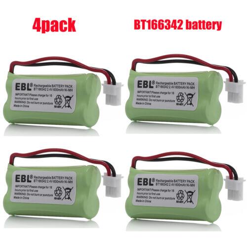4x Cordless Home Phone Battery For AT&T VTech BT166342 BT266342 BT183342 283342