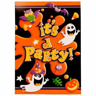 Invitations Halloween Party (Ghost Halloween Party 8 Ct Invitations with)