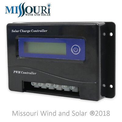 24 Volt 30 Amp (30 Amp 12 / 24 Volt Auto Detect PWM Digital Solar Panel Charge Controller)
