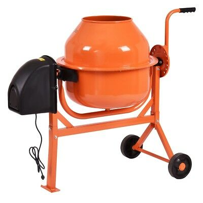 220w Electric Concrete Cement Mixer Heavy Duty Cement Mixer Machine Portable 1pc