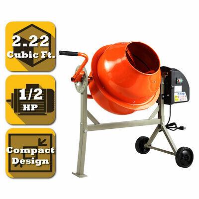 Portable Electric 2.22 Cubic Concrete Cement Mixer Barrow Machine Mixing Mortar