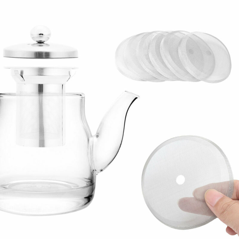 3PCS STAINLESS STEEL FRENCH PRESS COFFEE MAKER DETACHABLE MESH FILTER SUPER