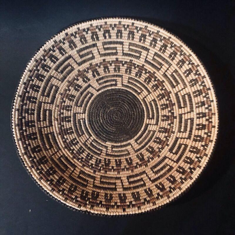"Antique Native American Pima Basket 13""x1.5""Collectable"