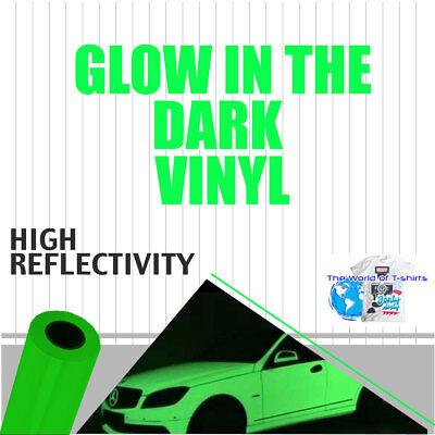 Glow In The Dark Reflective Vinyl Adhesive Cutter Sign 12x3 Feet