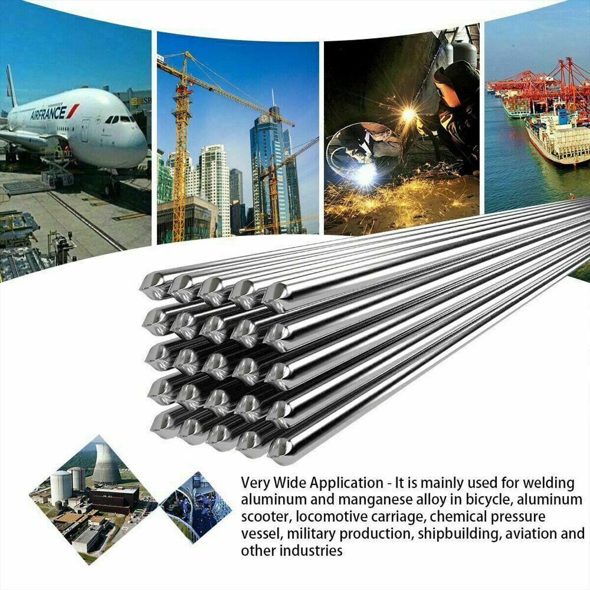 30PCS 33cm//1.08ft 1.6mm Solution Welding Flux-Cored Rods Aluminum Wire Brazing