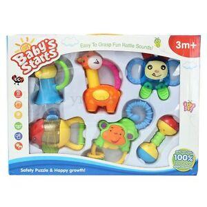 6Pcs Animal Models Handbell Toys Bundle Lovely Rattles Gift For New Baby Kids