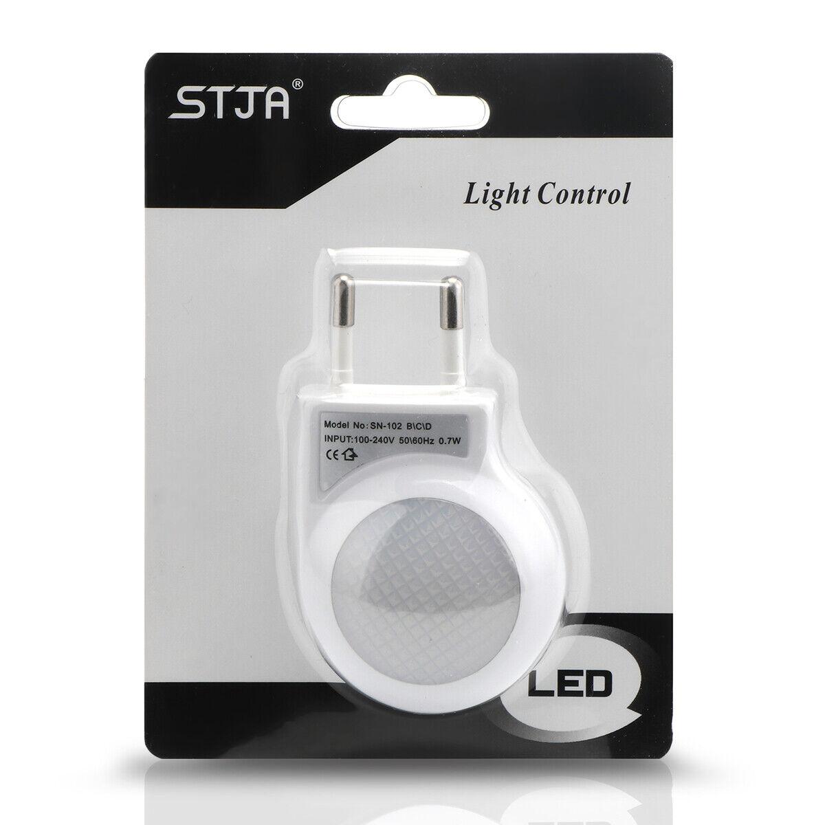 LED Nachtlicht Notlicht EU Steckdose Lichtsensorsteuerung Nachtlampe Beleuchtung