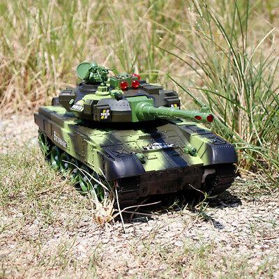 54CM 2.4G RC Panzer battle Tank Fernbedienung Spielzeug Monster Fahrzeug LED