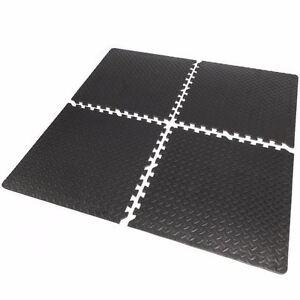 16sqft Floor Mat Interlocking Puzzle Rubber Foam Gym Fitness Exercise Tile new