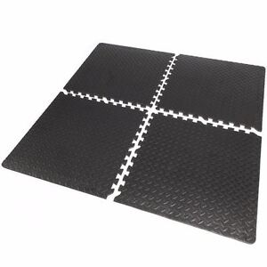 16sqft Floor Mat Interlocking Puzzle Rubber Foam Gym Fitness Exercise Tile  New