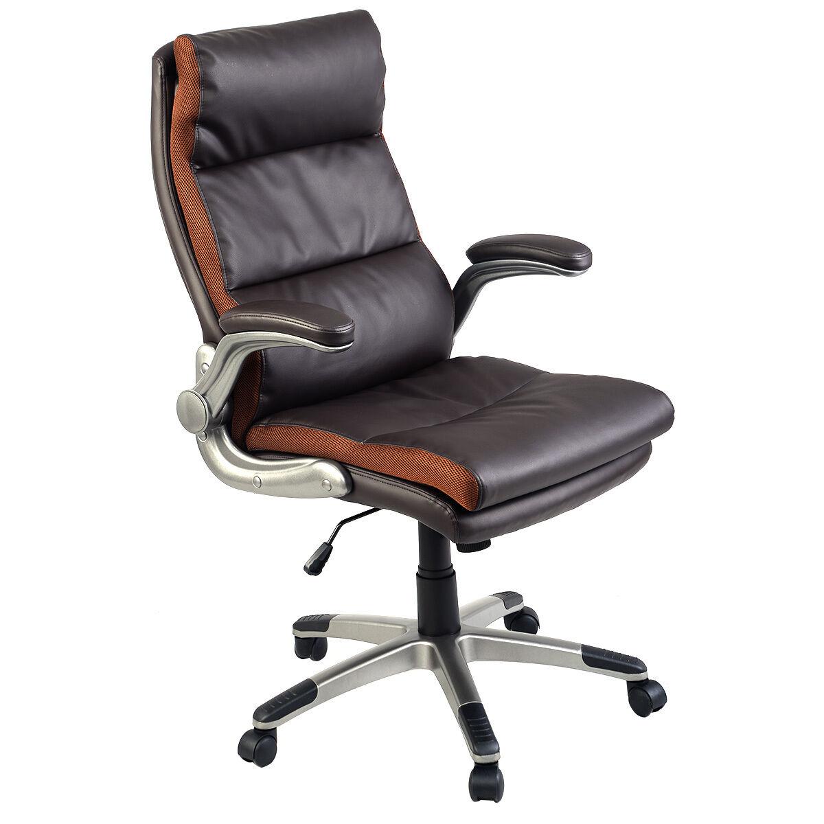 New Ergonomic PU Leather High Back Executive Computer Desk ...