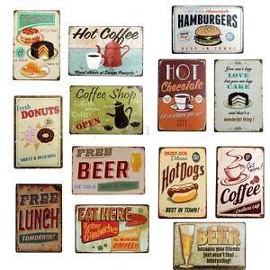 Retro plaque metal food maill e affiche mural for Affiche cuisine retro