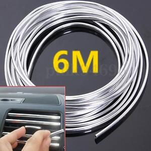 20FT Chrome Moulding Trim Strip Car Door Edge Scratch Guard Protector Cover