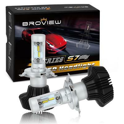 (BroView S Series S7 H4 9003 8000LM Headlight Dual Beam Projector 50W LED)