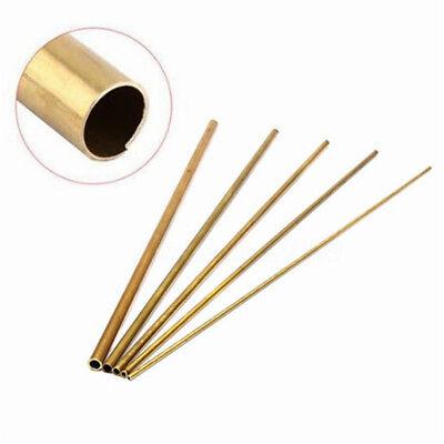 30cm Long Round Brass Tube Pipe Tubing Inner Diameter 2mm 3mm 4mm 5mm 6mm