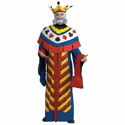 Halloween Costume Playing Card (King Playing Card Costume Adult Casino Halloween Fancy Dress - Choose Size)