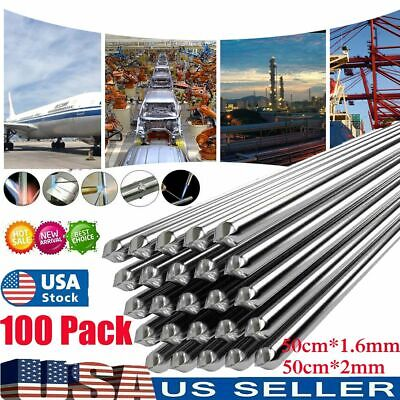 100pcs Aluminum Solution Welding Flux-cored Rods Wire Brazing Rod 50cm1.6mm2mm