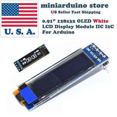0.91 128x32 Iic I2c White Oled Display Module Dc3.3v 5v 12832 Arduino