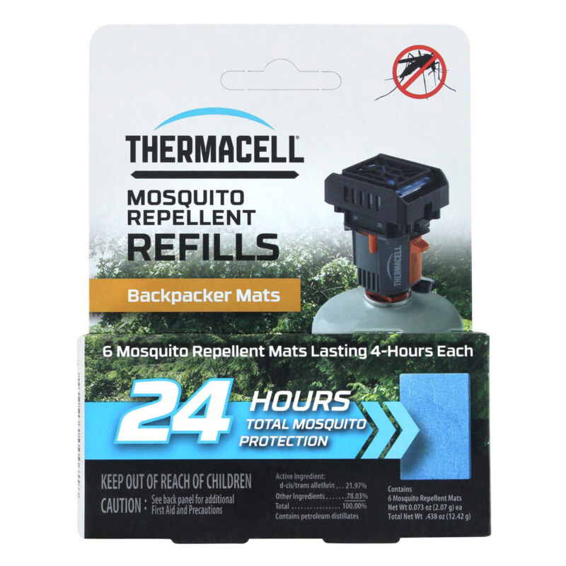 ThermaCELL Mosquito Repellent Mat Only Refill Backpacker-24 Hours