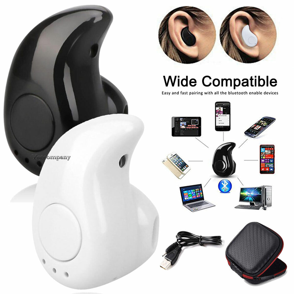 Bluetooth Earphone Wireless Headphone Earbuds For iPhone And