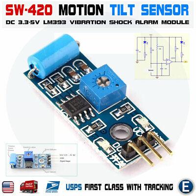 Sw 420 Motion Tilt Sensor Vibration Switch Alarm Module For Arduino 3.3-5v