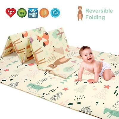 Baby kids Play Mat Foldable Crawling Mat Waterproof Creeping Blanket Floor mat