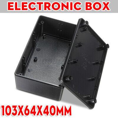 Electronics Enclosure Project Box Case Waterproof 103x64x40mm Wscrews Black