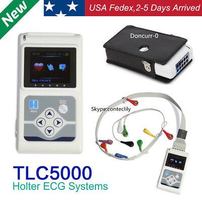 Fdace Tlc5000 Dynamic 12-lead Ekg Holter Ecg System24h Recorderpc Software