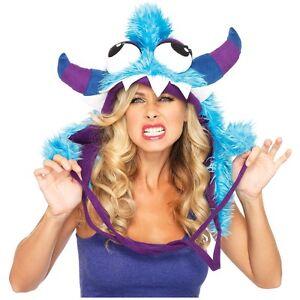 Monster Costume Hood Adult Furry u0026 Funny Halloween Fancy Dress  sc 1 st  eBay & Furry Monster Hood: Costumes Reenactment Theater | eBay