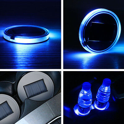 LED Auto Cup Bottle Holder Pad Mat For All Car Model Interior Atmosphere Light
