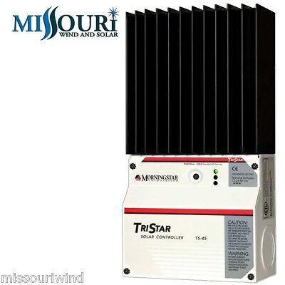 Morningstar Tristar TS 45 12/24/48 volt 45 amp Solar Charge Controller Morning Star Solar Charge Controller