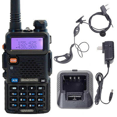 Two-Way Radios BAOFENG UV 5R VHF/UHF 136-174/400-480 MHzFM Dual Band Talkie New on Rummage