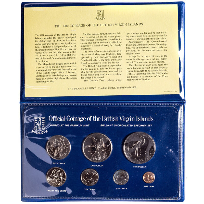 1980 Official Coinage of the British Virgin Islands BU Specimen Set