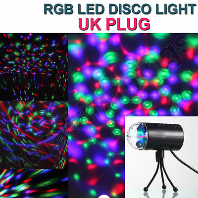 DJ Light Disco Bar Party Club 3D Rotating RGB LED Effect Stage Lighting Lamp UK