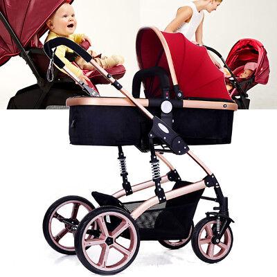 3 in 1 Foldable Steel Travel System Baby Stroller PRAM Child Car Safety Seat comprar usado  Enviando para Brazil