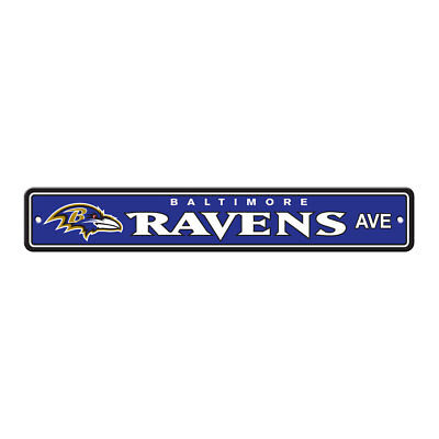 NFL Baltimore Ravens Home Room Bar Office Decor AVE Street Sign 4