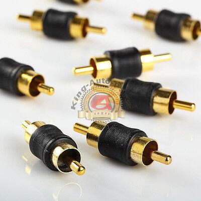 10pcs Straight AV RCA Audio Video Male to Male Coupler Adapt