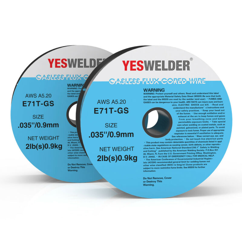 (2 Rolls) E71T-GS .035 in. Dia 2lb. Gasless-Flux Core Wire Welding