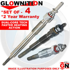 G1009 For VW Golf 1.9 TDI 4motion 2.0 SDi Glownition Glow Plugs X 4