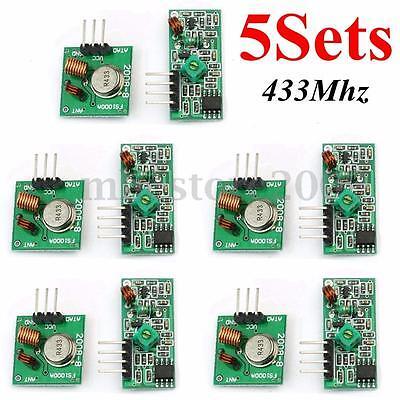 5x 433mhz Mx-fs-03v Rf Transmitter Mx-05 Receiver Kit Module Arduino Arm Wl Mcu