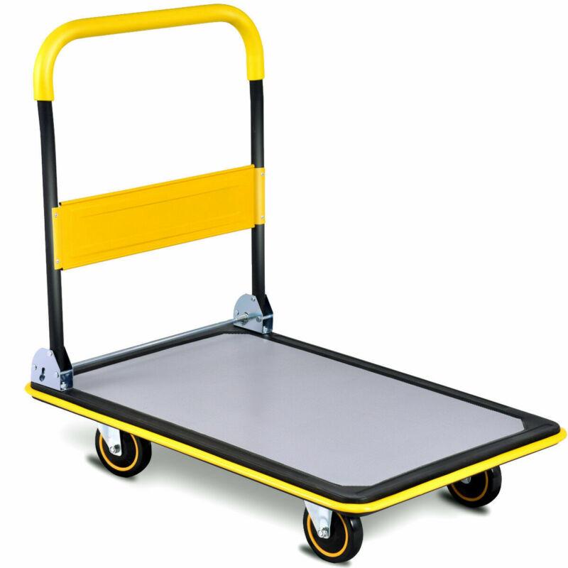 660lbs Folding Platform Cart Dolly Push Hand Truck Moving Warehouse Foldable New