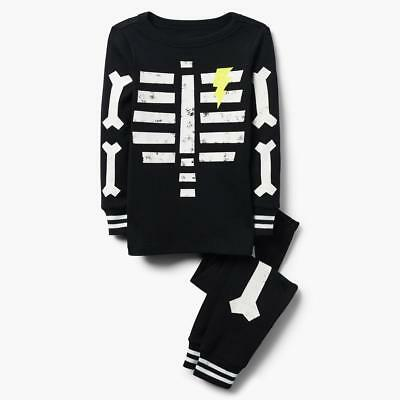 NWT Gymboree Skeleton Gymmies Pajama Set Boy Glow in the Dark 2018 all sizes](Glow In The Dark Skeleton Pajamas Boys)