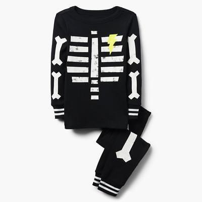 NWT Gymboree Skeleton Gymmies Pajama Set Boy Glow in the Dark 2018 all - Glow In The Dark Skeleton Pajamas Boys