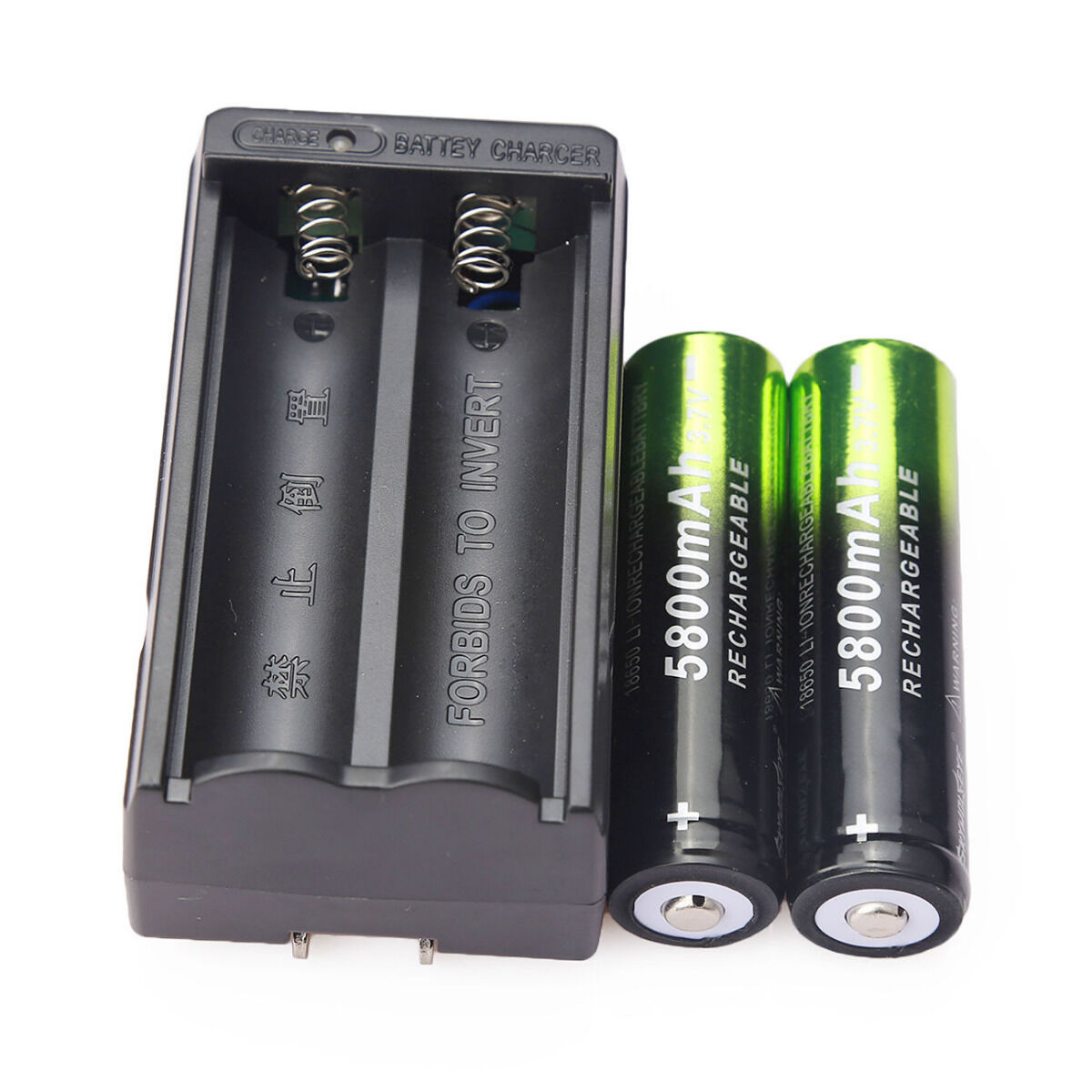 4X SKYWOLFEYE 18650 Battery 5800mAh Li-ion 3.7V Rechargeable Batteries + Charger